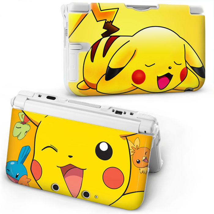 Pokemon pikachu hard case cover for old style nintendo 3ds for Housse 3ds xl pokemon