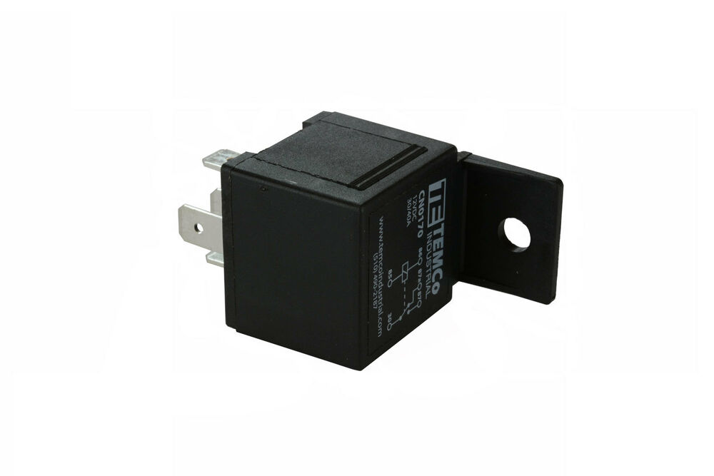 Black 12v 30 40 Amp Car Auto Automotive Relay With Wiring Harness And