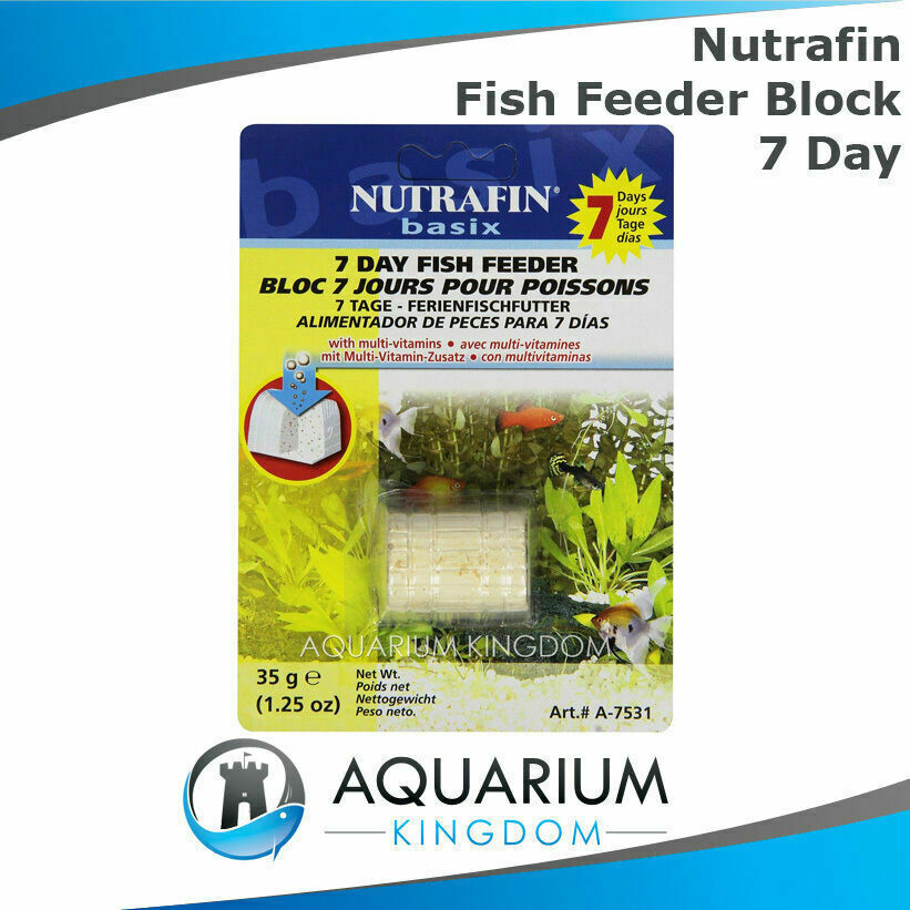 Nutrafin 7 day fish feeder block 35g weekend holiday for Weekend fish feeder