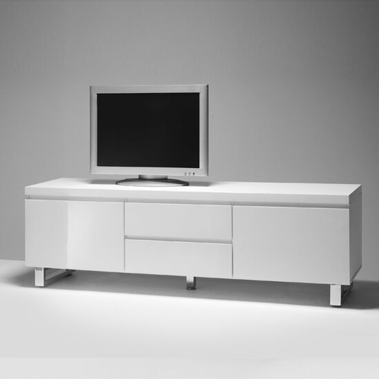 sydney lowboard lcd tv stand in high gloss white ebay. Black Bedroom Furniture Sets. Home Design Ideas