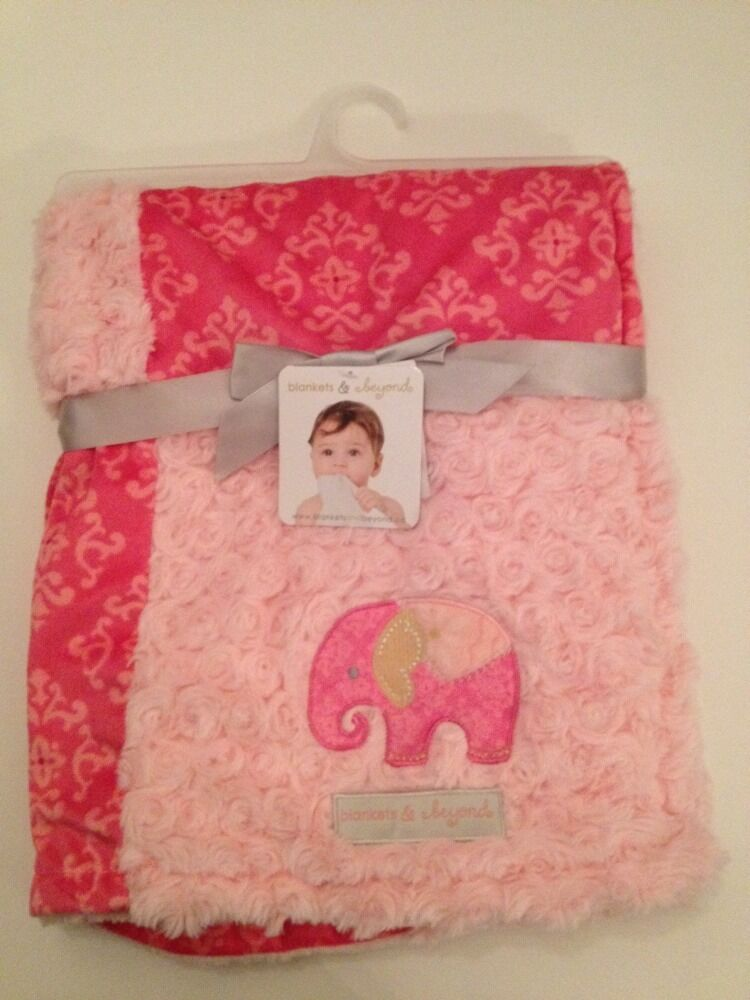 Blankets And Amp Beyond Baby Girl Blanket Pink Rosette