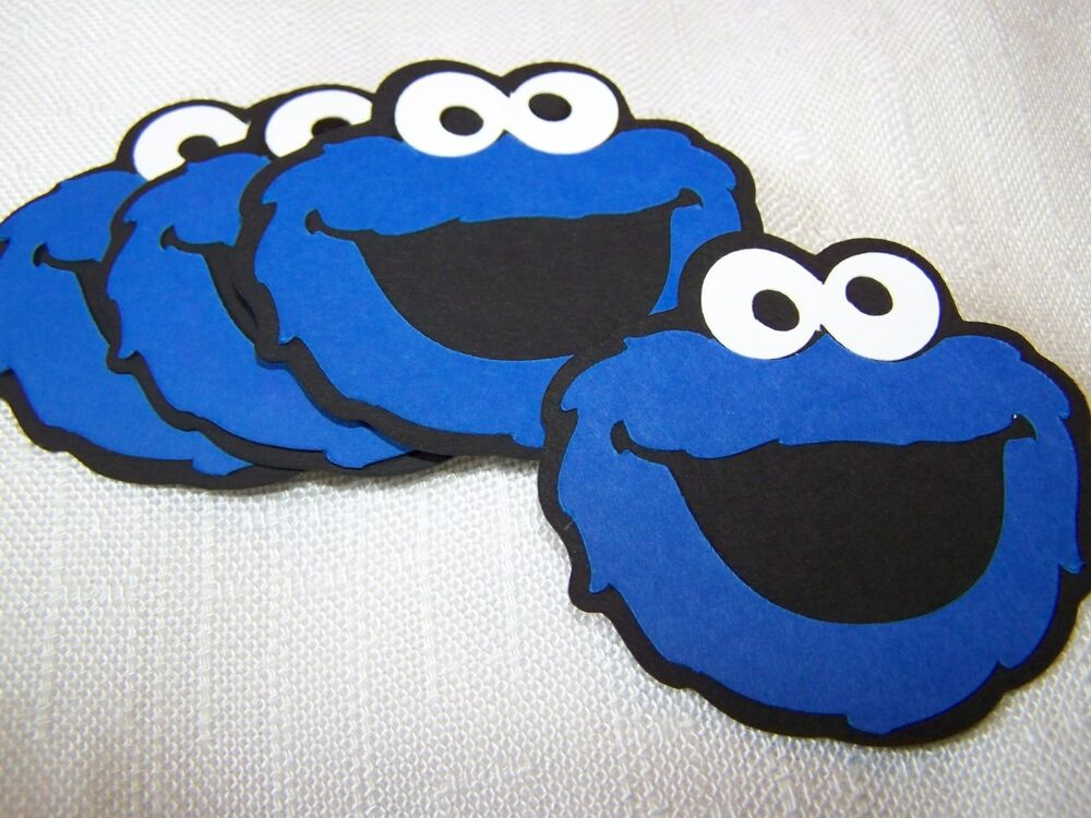 Large Cookie Monster party decorations 6 in. face Sesame ...