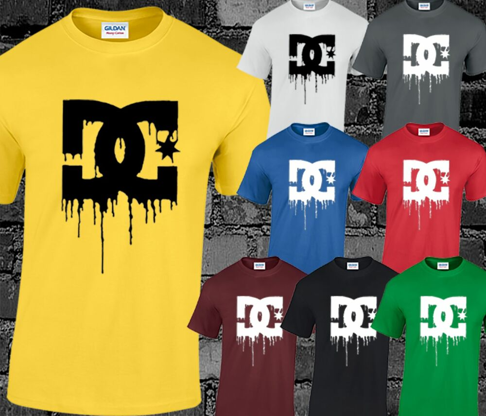 Death of dc shoes dying bleeding inspired logo t shirt for Dc t shirt design