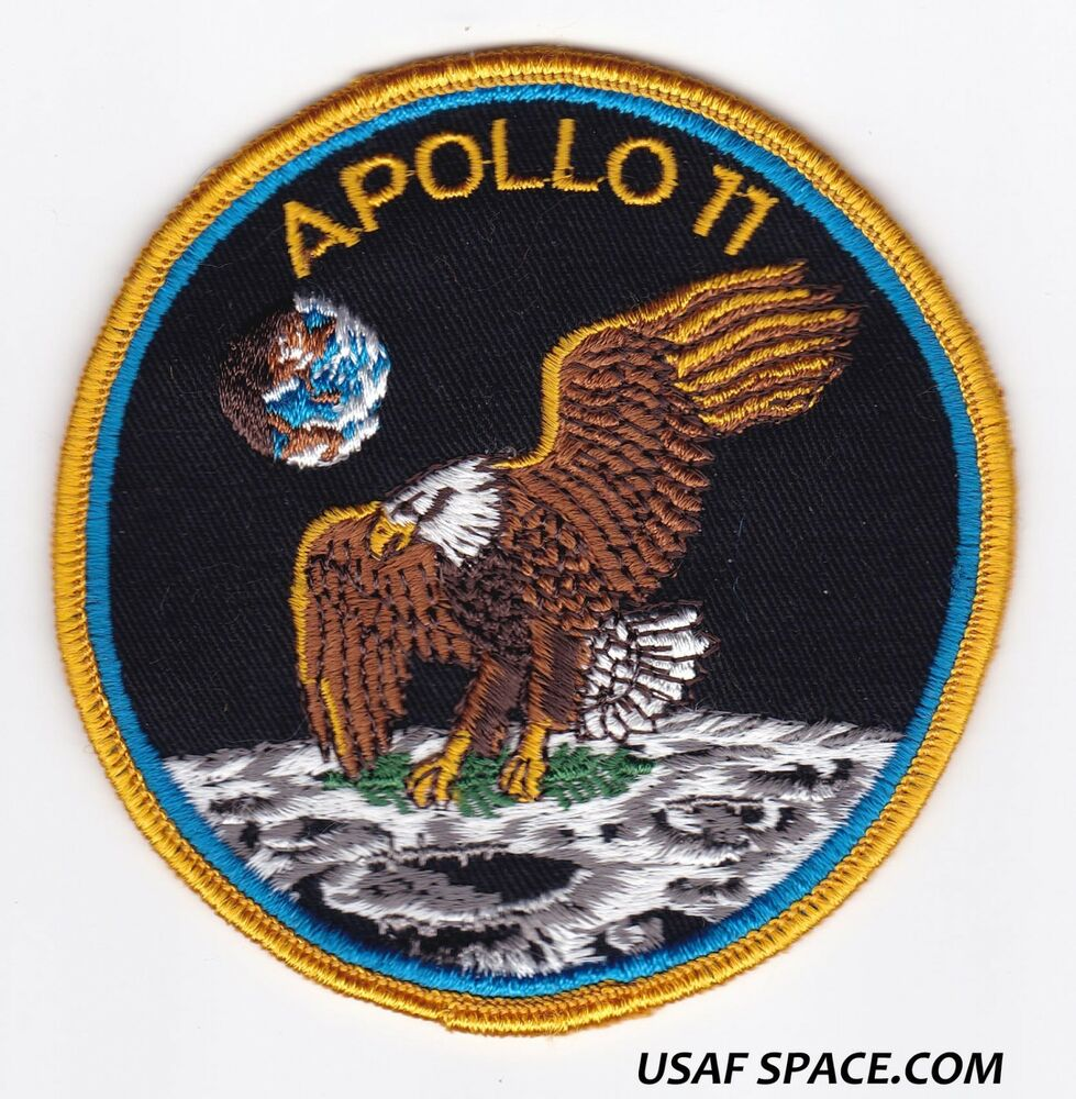 VINTAGE ORIGINAL APOLLO 11 - VOYAGER EMBLEMS - NASA CLOTH ...