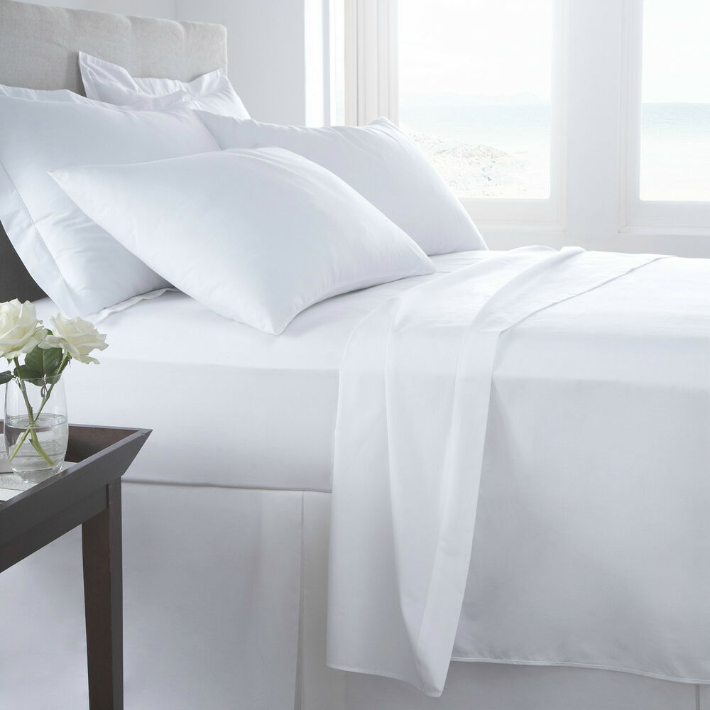 ... Egyptian Cotton Fitted & Flat Sheets 400 and 200 Thread Count | eBay