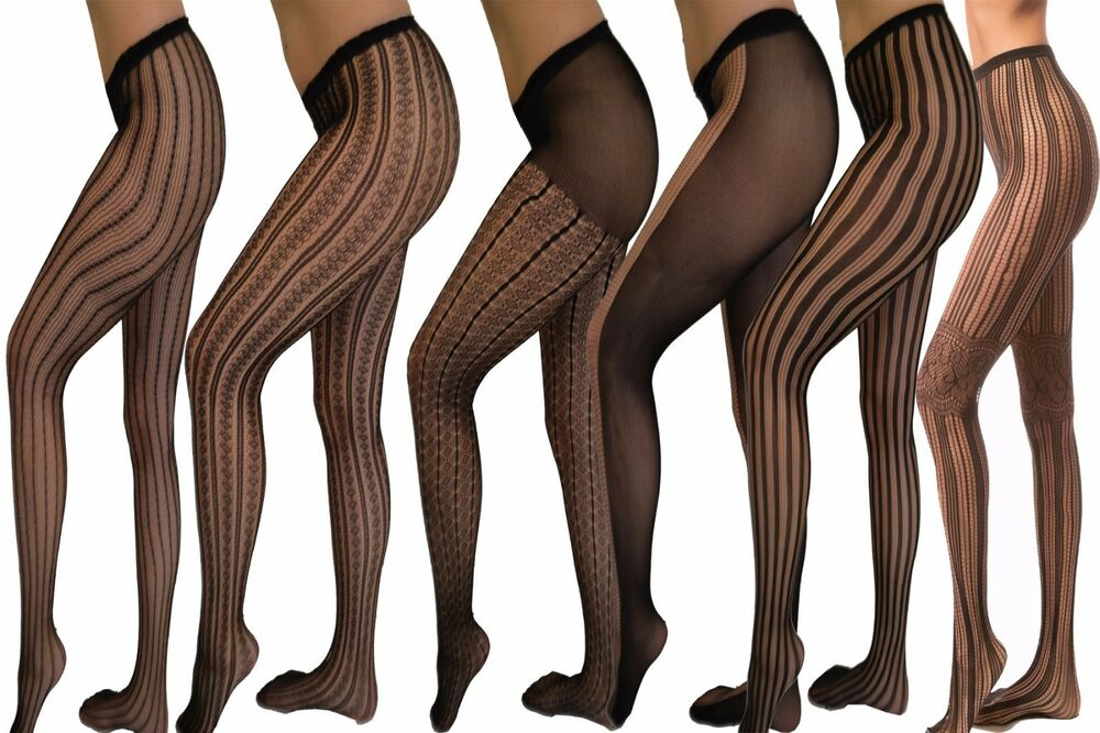 f755bbb9f Details about Womens Lady Sexy Fashion Sheer Pantyhose Design Pattern  Printed Tattoo Stockings
