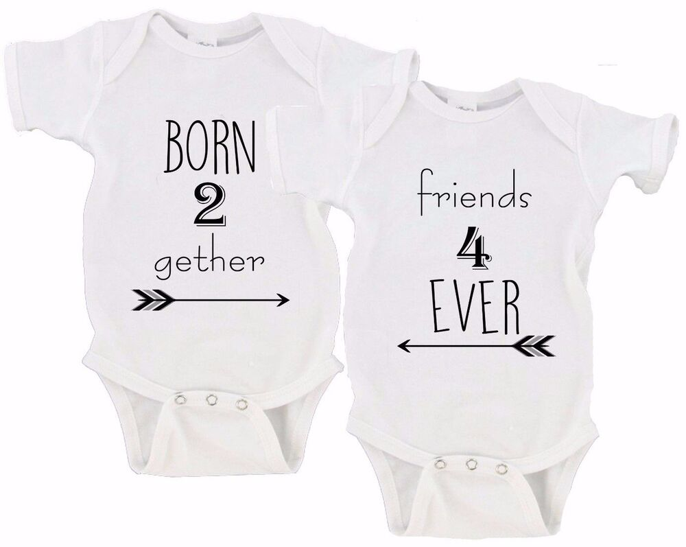 Born Together Friends Forever Twin Set Baby Girls Boys