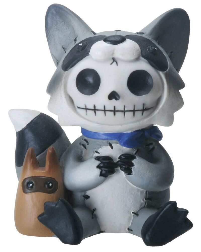 Furry Bones BANDIT the Raccoon Figurine, Skeleton in ...