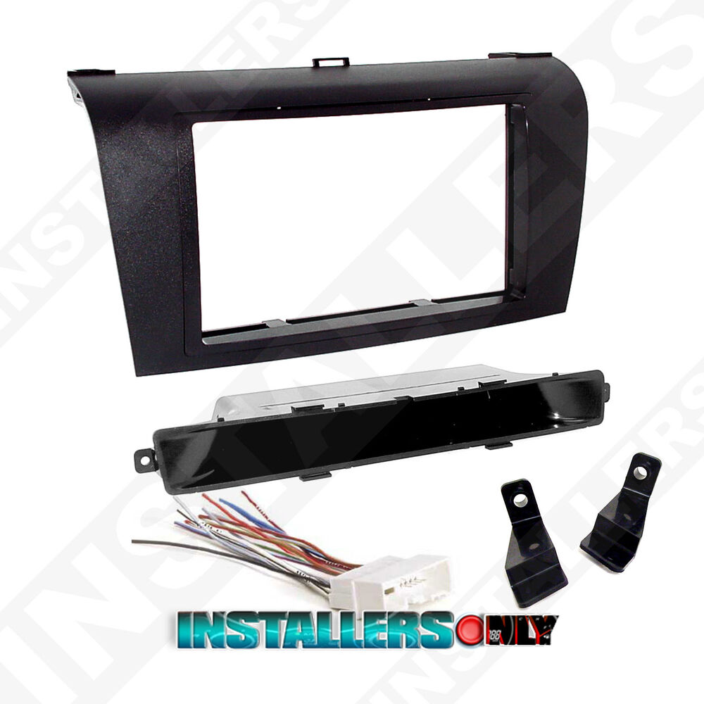 mazda 3 car stereo double 2 d din radio install dash kit w. Black Bedroom Furniture Sets. Home Design Ideas
