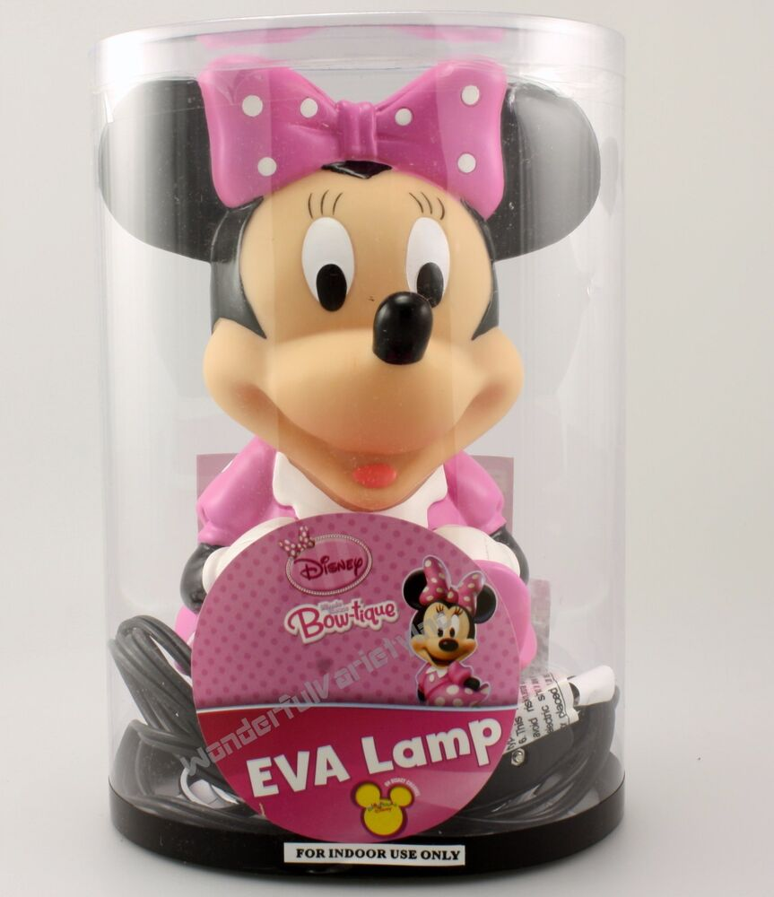 disney minnie mouse bow tique eva lamp night light ebay. Black Bedroom Furniture Sets. Home Design Ideas