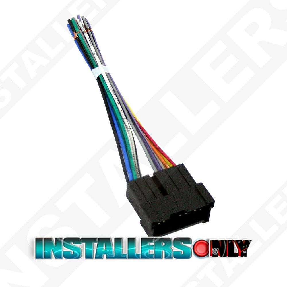 Aftermarket car stereo radio wiring harness wire