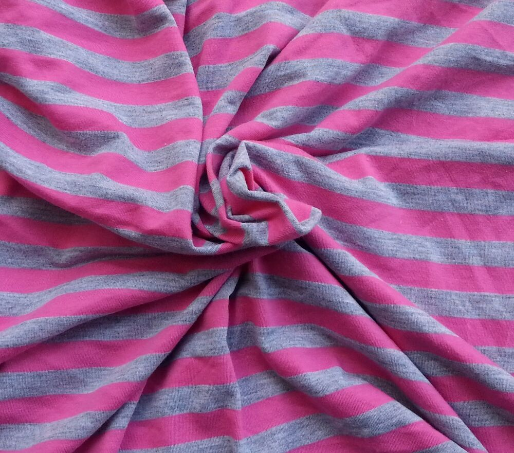 Cotton Blend Stripe Fabric Jersey Knit By The Yard Hot
