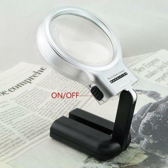 for reading giant large hands free magnifying glass with. Black Bedroom Furniture Sets. Home Design Ideas