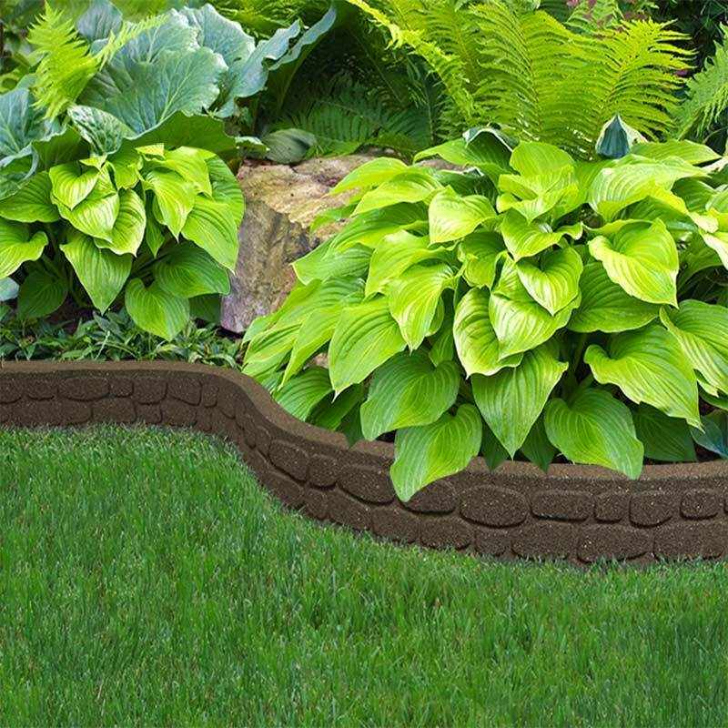 Recycled Rubber Flexi Curve Rockwall Rubber Edging Ebay