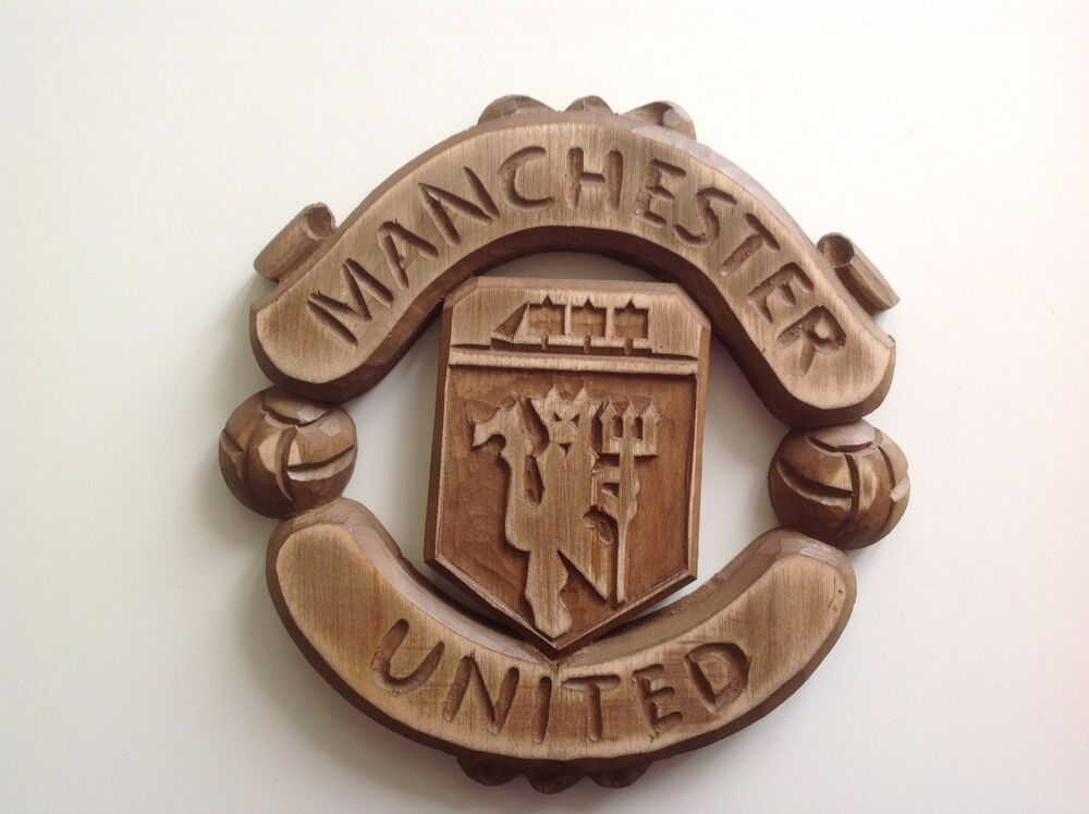Hand crafted wood carving chelsea logo emblem coat of arms