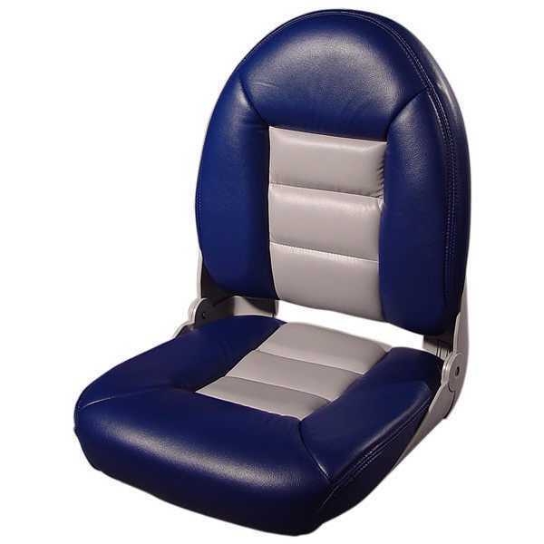 Houseboat Furniture And Accessories: Tempress 54901 NaviStyle High Back Boat Seat Blue/Gray