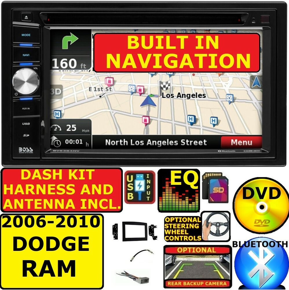 dodge ram navigation 06 07 08 09 10 dodge ram gps navigation system bluetooth cd dvd car stereo radio