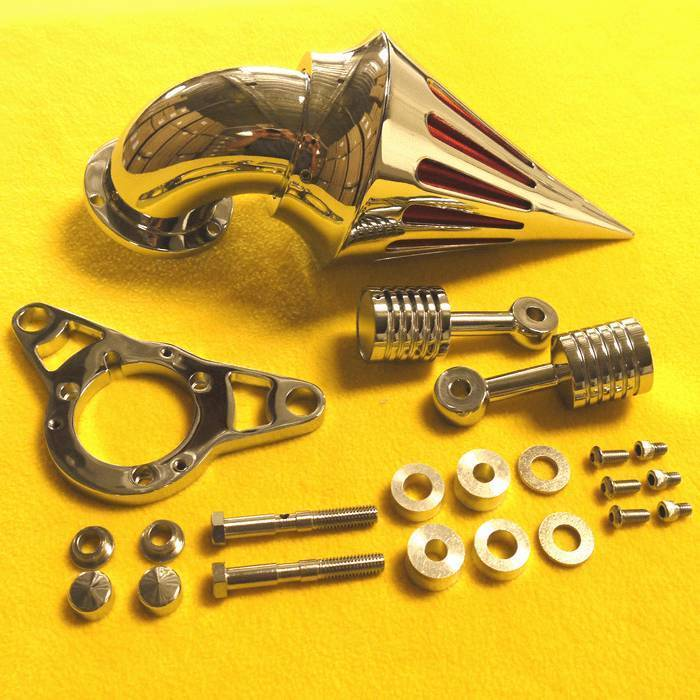 Harley Davidson Air Filter Kits : Harley davidson softail motorcycle chrome spike air