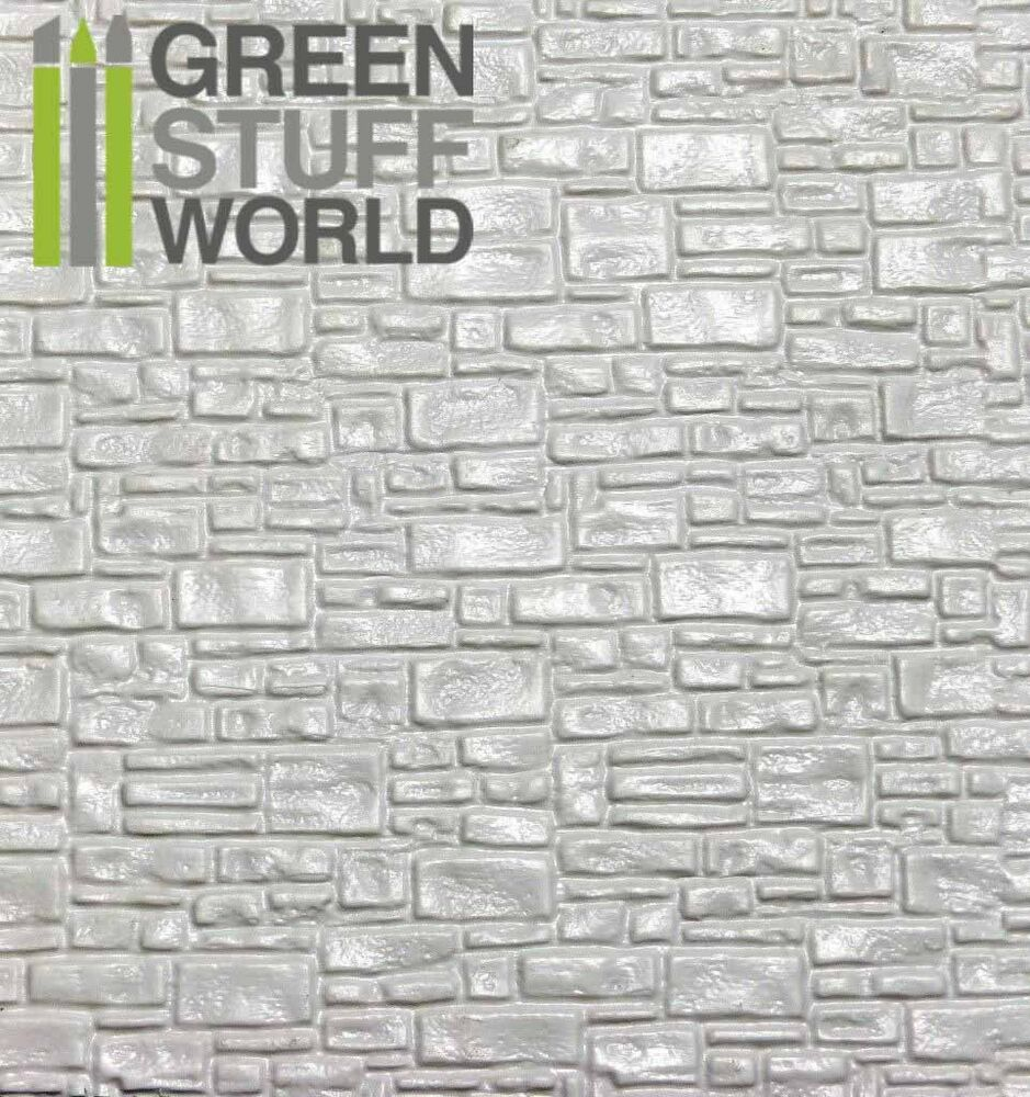 Abs Embossed White Plasticard Smooth Rock Wall Styrene