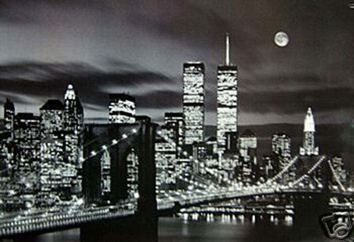 4000 new york city wtc poster 24x36 ebay. Black Bedroom Furniture Sets. Home Design Ideas