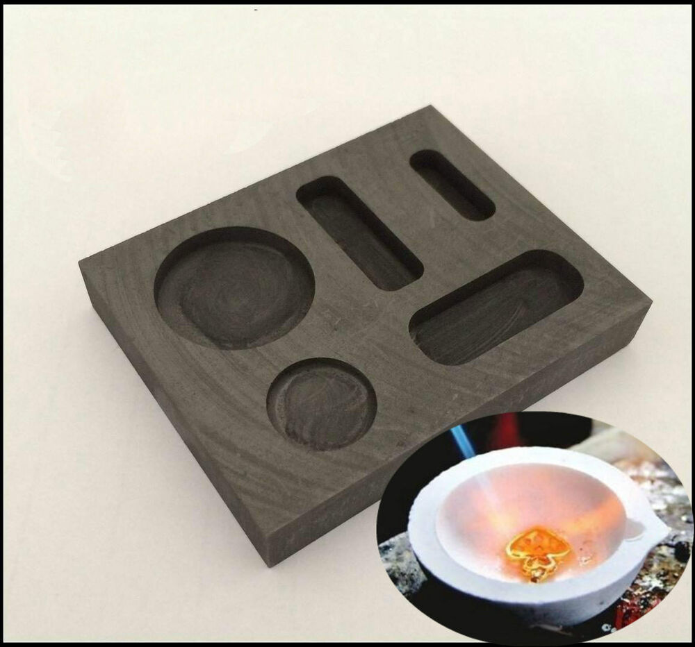 1 4 1 2 1oz gold ingot bar round coin mold casting refining melting crucible set ebay. Black Bedroom Furniture Sets. Home Design Ideas