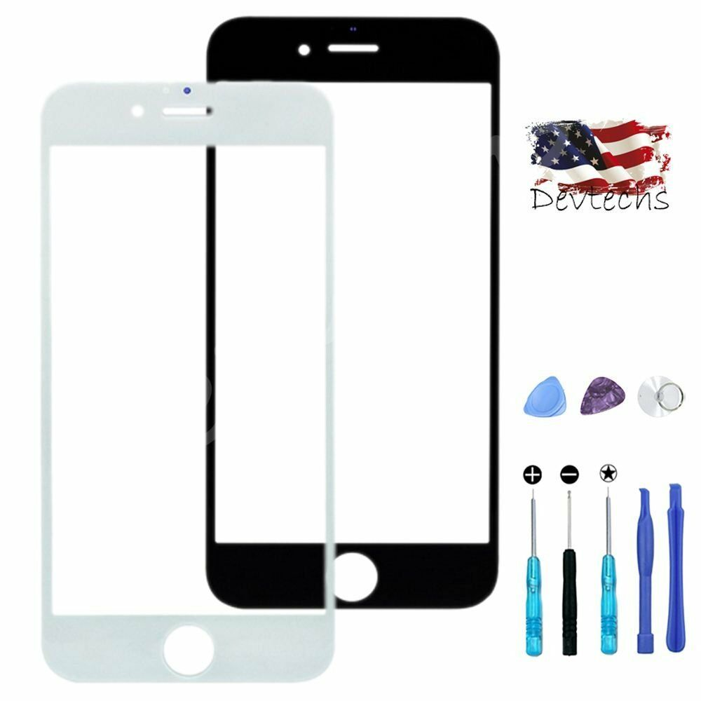 For apple iphone 6 plus 6 front outer screen glass lens replacement repair kit ebay - Kit reparation iphone 6 ...