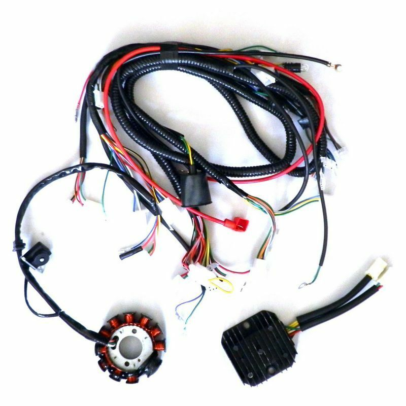 s l1000 performance 11 pole dc magneto stator regulator wiring harness gy6 scooters performance wiring harness at gsmx.co
