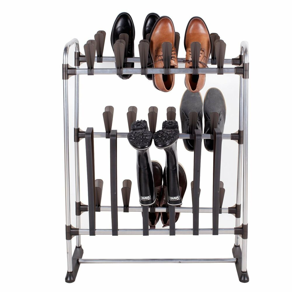 Space Saving Standing Shoe Rack For 24 Pairs Of Shoes And 3 Pairs Of Boots Ebay