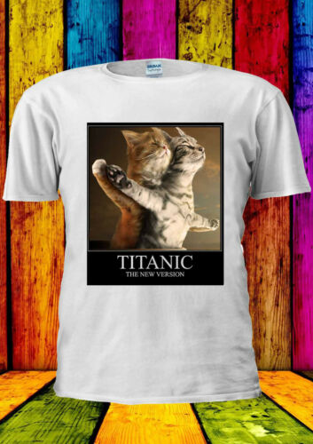 Titanic Funny Cats New Version Dope T-shirt Vest Tank Top Men Women Unisex 1249