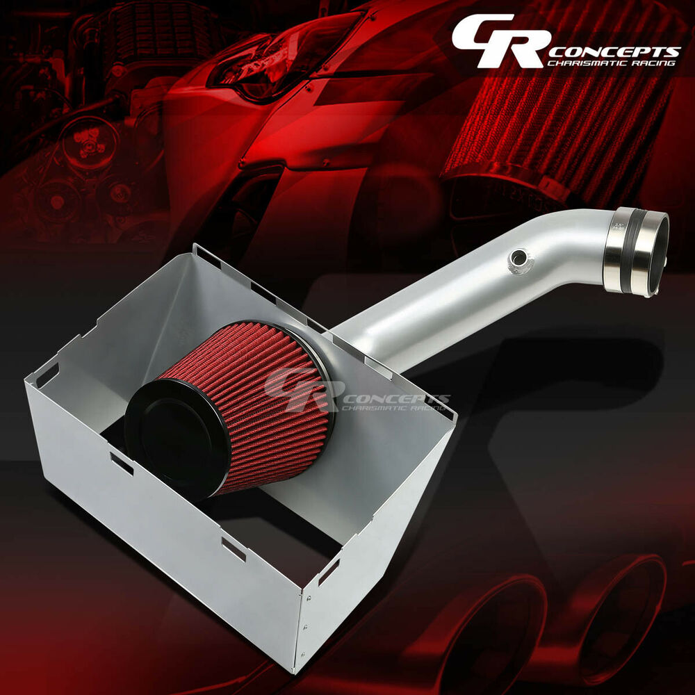 FOR 02 08 RAM 4 7 5 7 HEMI 4WD SILVER COLD AIR INTAKE
