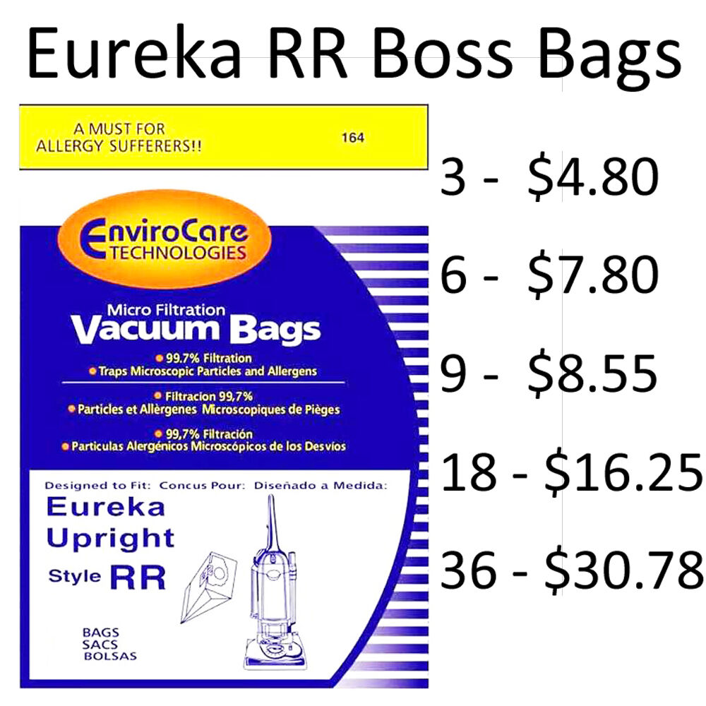 Hoover Vacuum Cleaner Bags Type Y Eureka Boss Vacuum Bags Type RR by EnviroCare Part ...