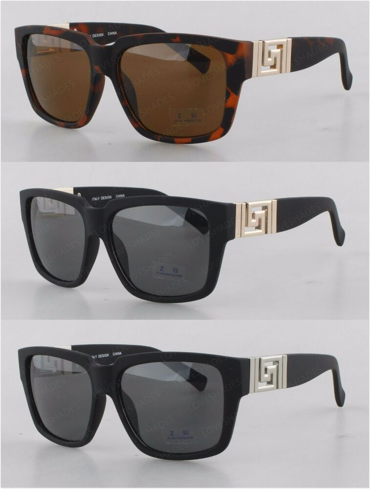 Retro Gold Frame Sunglasses : New Square Frame Matte Hip Hop Glasses Gold Vintage Men ...