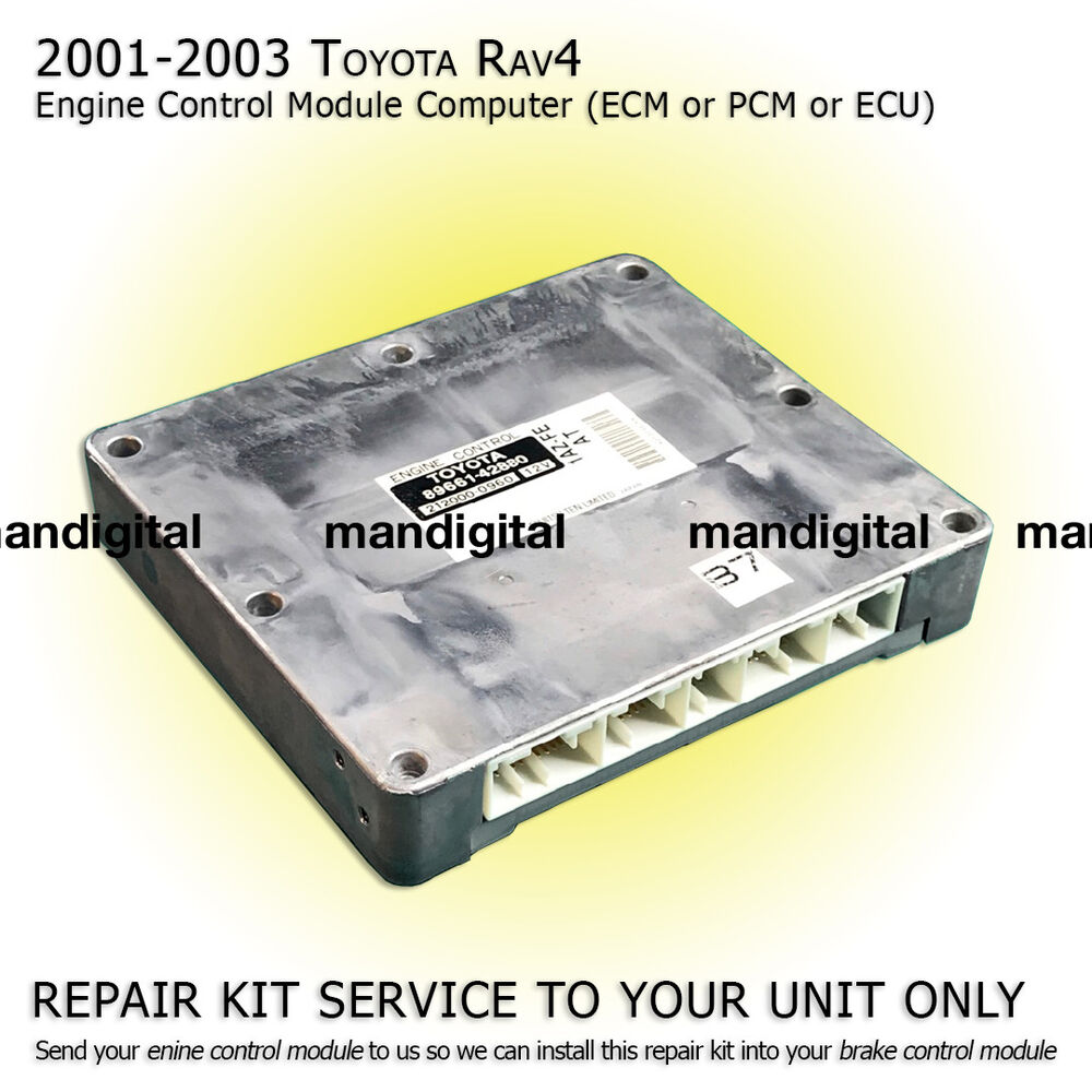 2001 2002 2003 Toyota Rav4 Engine Computer Module Pcm Ecm Ecu Repair Fuse Box Service Ebay