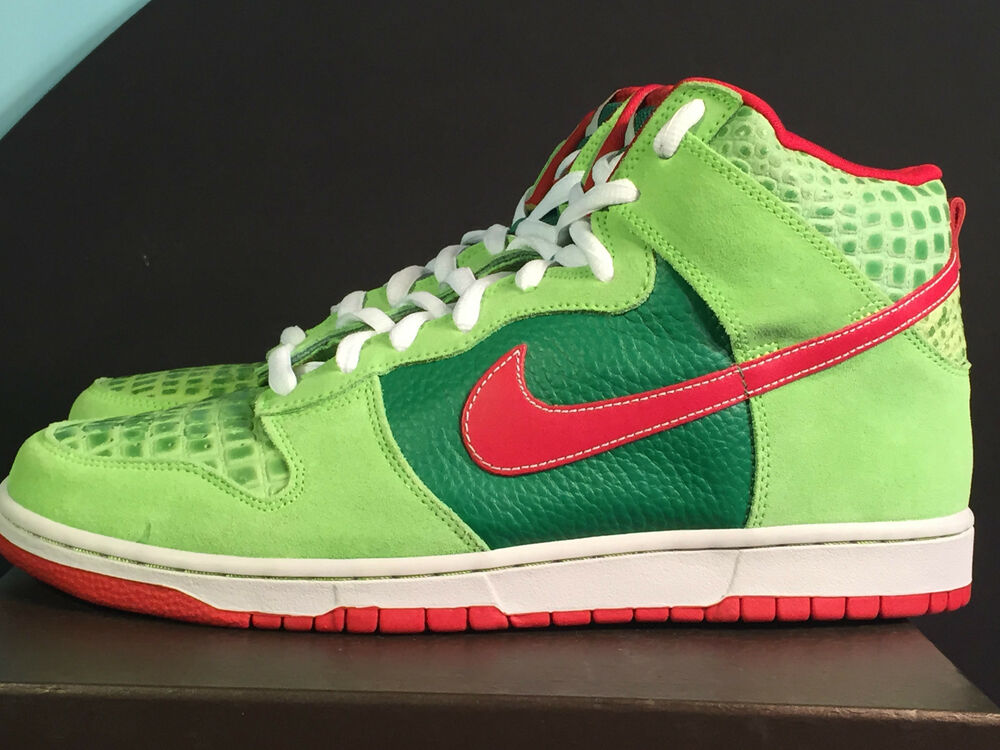 nike dunk high top pro sb dr feelgood motley crue green. Black Bedroom Furniture Sets. Home Design Ideas