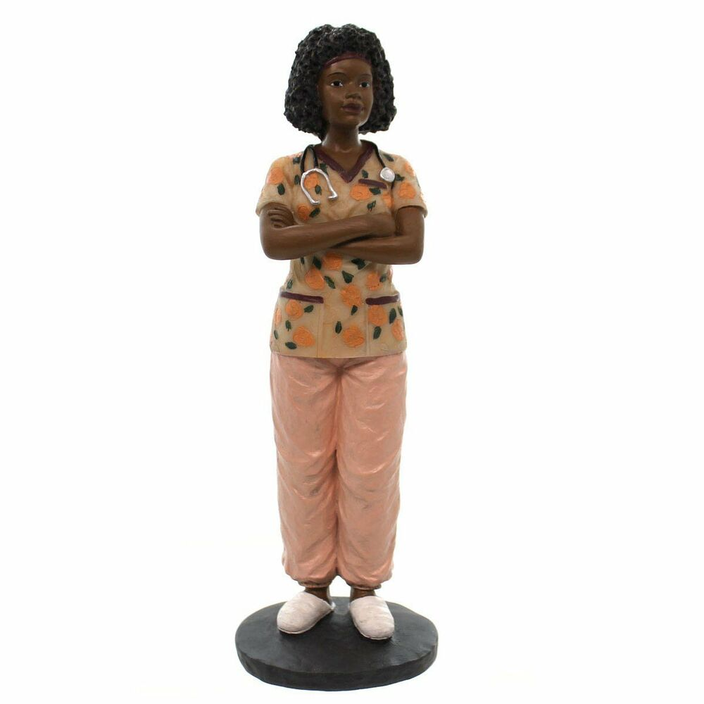 Female Nurse African American Figurine 8 5 Quot Tall By
