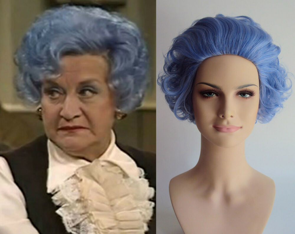 Blue hair old lady