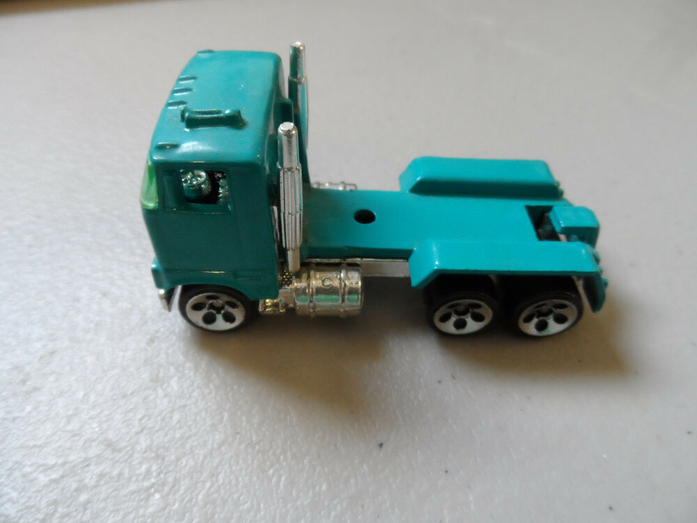 Semi Truck That S Also A Toy Car Holder : Hot wheels teal semi truck see pics ebay