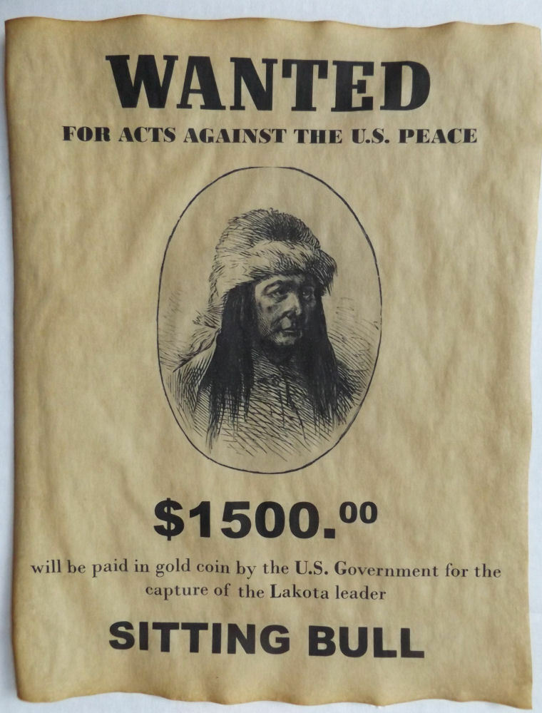 Wanted Poster Sitting Bull Wanted Po...