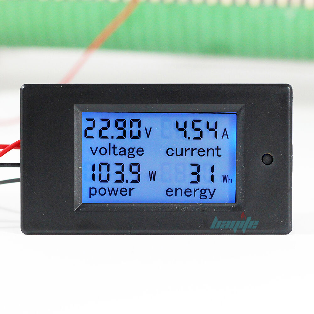 L De Voltage Meter : A dc digital watt kwh current power energy meter
