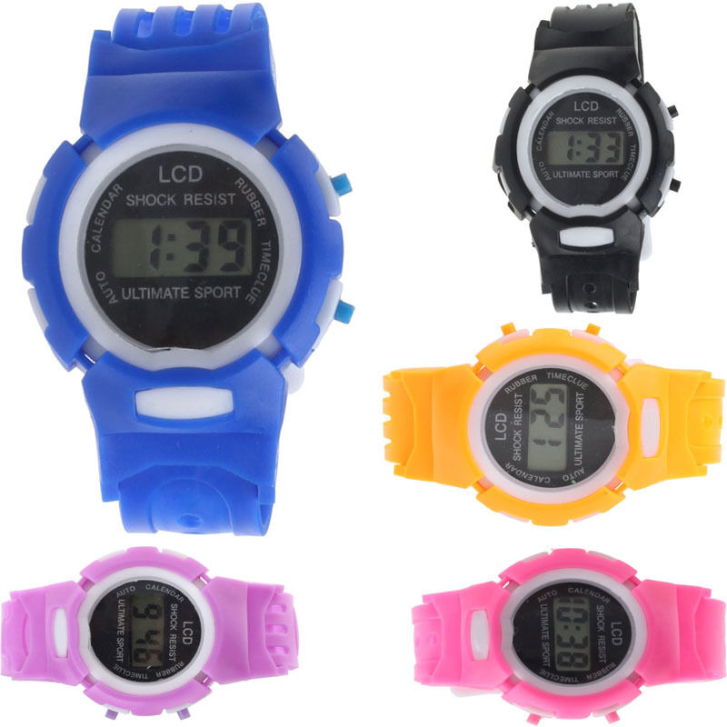 2015 NEW Cheap Boys Girls Student Sport Electronic Digital LCD Wrist Watch Gift | eBay
