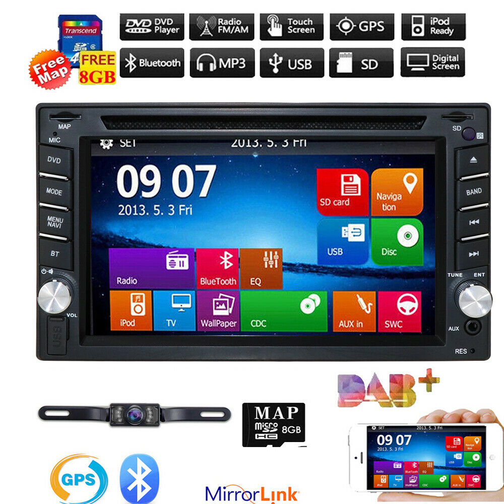 "Double 2 Din 7"" Car DVD CD MP3 Player Touch Screen In Dash"