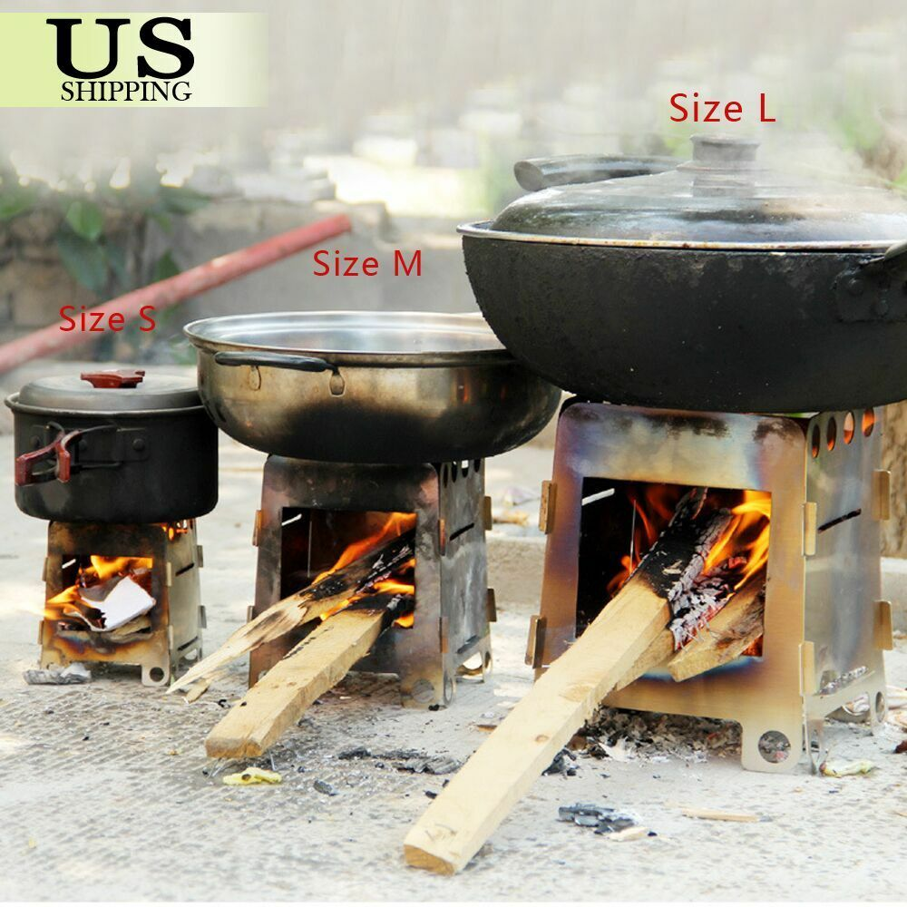 Outdoor camping picnic cooking folding alcohol wood pocket for Outdoor wood cooking stove