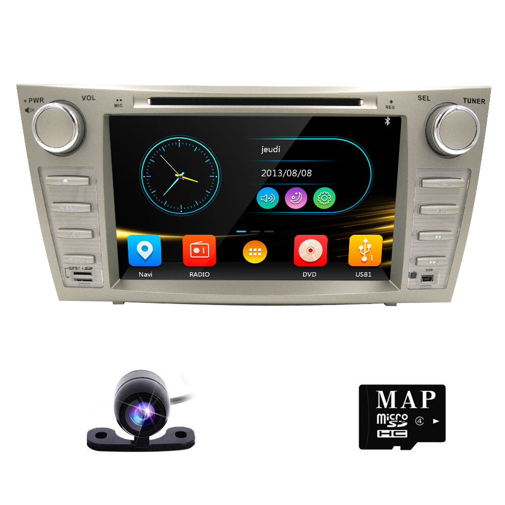 8 car dvd player gps navi system for toyota camry 2007. Black Bedroom Furniture Sets. Home Design Ideas