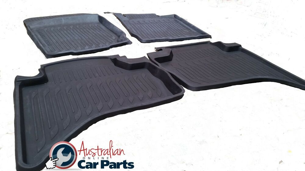 Mitsubishi Triton Accessories Ebay >> Mitsubishi Triton MN ML Rubber Mats 2007-2015 High side Dual cab New Genuine | eBay