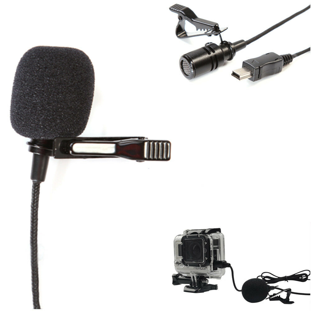 professional microphone external mini usb adapter cord for gopro hero 3 4 ebay. Black Bedroom Furniture Sets. Home Design Ideas