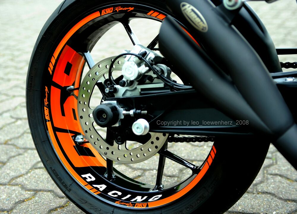 Wheel Rim Sticker Supermoto Ktm Duke 690 Iv 4 R 950 990 Sm