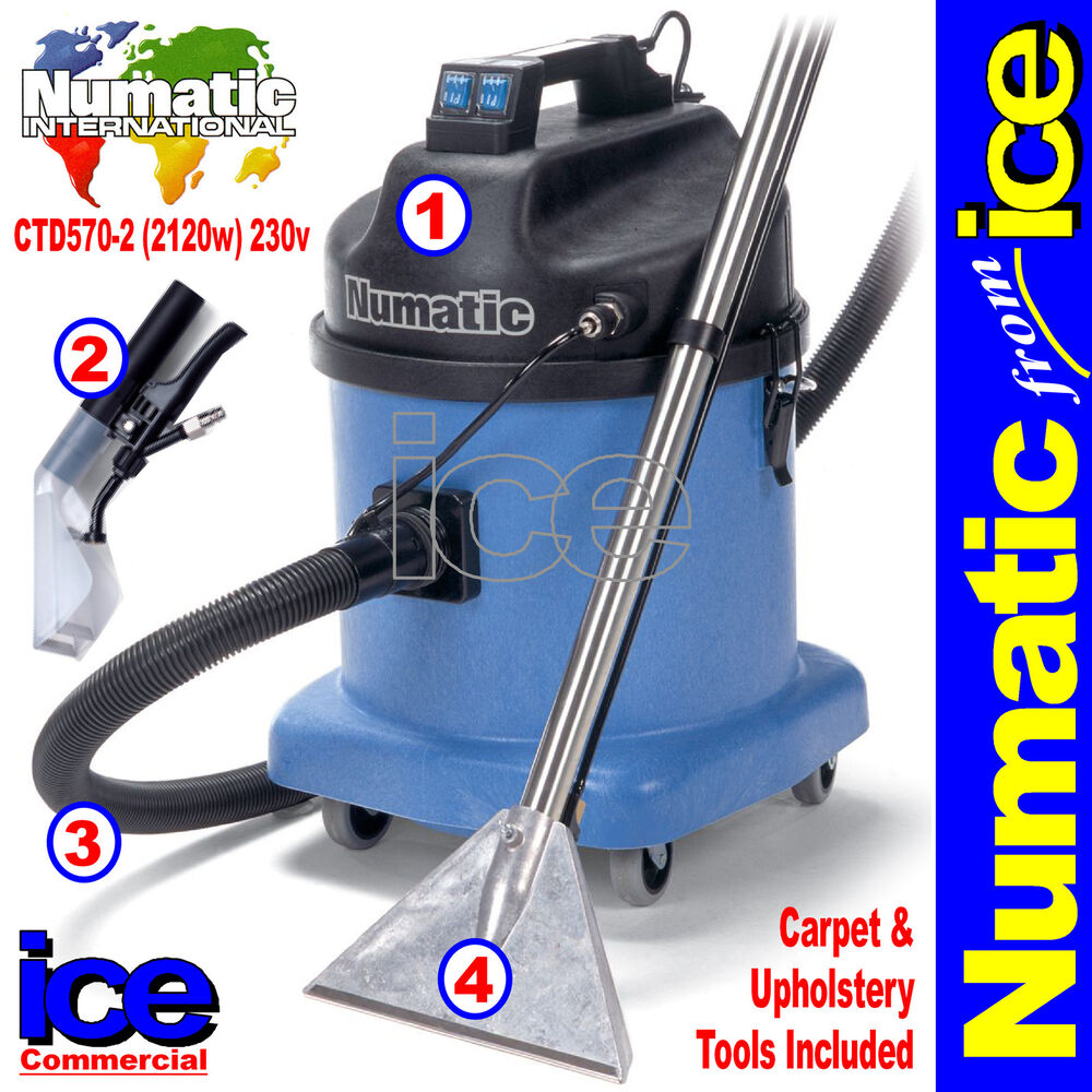 Numatic Ctd570 2 Carpet Upholstery Fabric Wet Vacuum