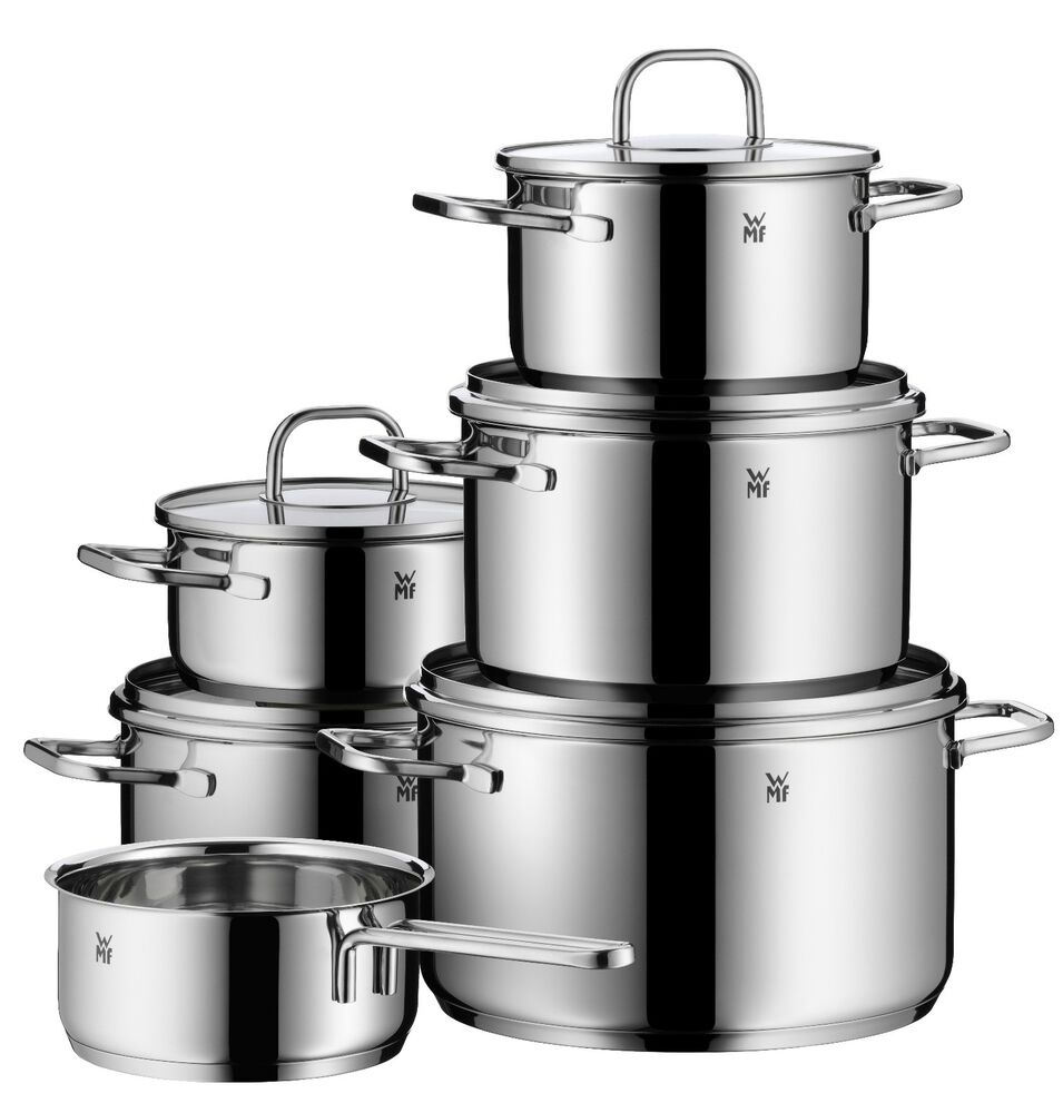 wmf 11 piece inspiration 18 10 stainless steel cookware set ebay. Black Bedroom Furniture Sets. Home Design Ideas