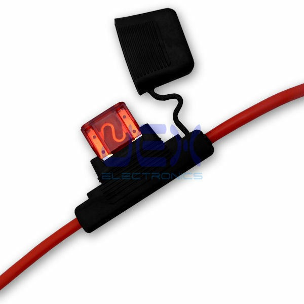 In Line Car Maxi Blade Fuse Holder Waterproof 8awg Upto