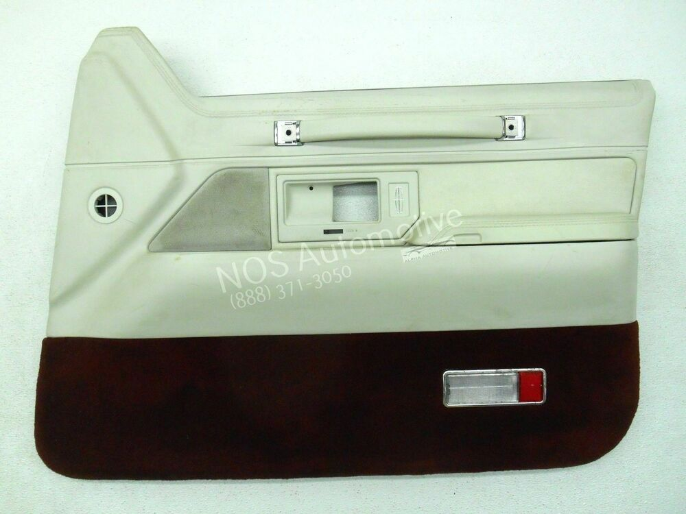 nos new oem 1993 1994 lincoln town car right white interior door trim panel ebay. Black Bedroom Furniture Sets. Home Design Ideas